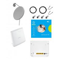 """Комплект LTE 4G/3G роутер Zyxel LTE3202-M430 + комплект антенн Runbit 2 х 28  дБ + Киевстар """"Домашний 4G"""""""
