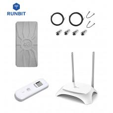 Комплект для интернета 4G/3G роутер TP-Link TL-WR842N + модем Huawei E3276 + антенна RunBit Spider