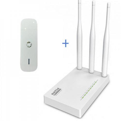 Комплект WiFi роутер Netis MW5230 + 3G модем Huawei K4510
