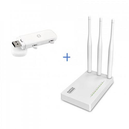 Комплект WiFi роутер Netis MW5230 + 4G / 3G модем ZTE MF823