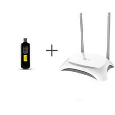 Комплект для 4G/3G интернета Huawei E3276s-601 + TP-Link TL-WR842N