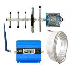 Комплект антенн с усилителем мобильной связи Lintratek KW13A-GSM 890-960 МГц