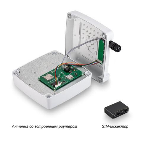 Роутер Kroks Rt-Ubx RSIM mQ-EC с SMD модемом Quectel EC25-EC, с поддержкой SIM-инжектора