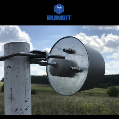 Комплект 3G / 4G MIMO LTE антенна - облучатель RunBit 2 x 14 дБ