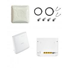 Комплект антенна 4G Runbit ALTA и WiFi роутер Zyxel LTE 3202-M430 для интернета