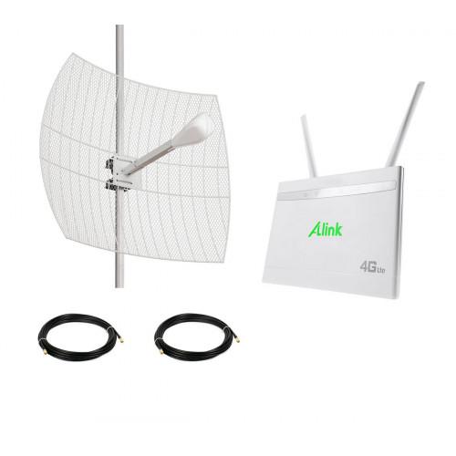 4G комплект параболическая антенна Kroks для частного дома
