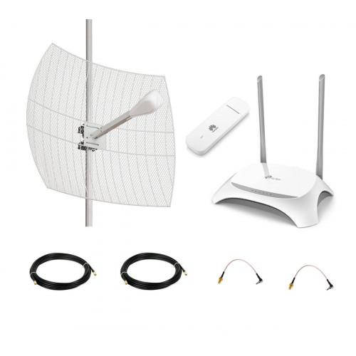 Комплект LTE MIMO параболик Kroks для дома