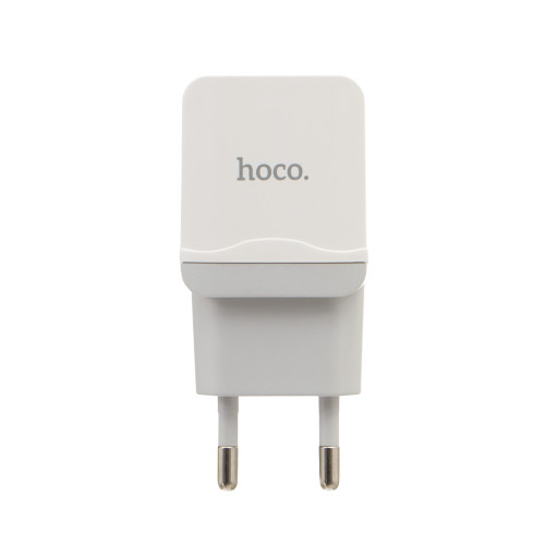 Сетевое зарядное устройство Hoco C22A (2.4A) white