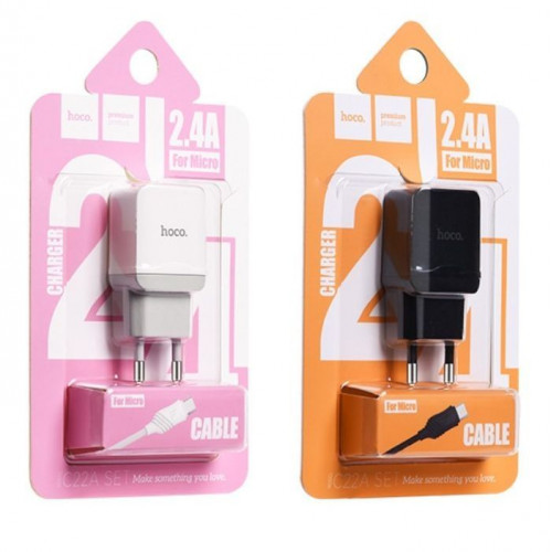 Зарядное устройство Hoco с кабелем Micro USB