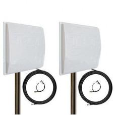 Комплект антенн панельных 4G / 3G MIMO Сарма + Double Pro 2 * 19 dBi