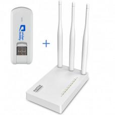 Комплект WiFi роутер Netis MW5230  + 3G модем Huawei E3276