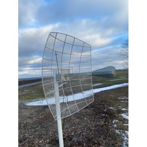 Комплект 4G параболик Kroks KNA24 - 1700/2700 для интернета