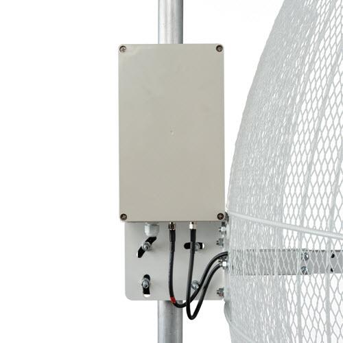 Kroks KNA24-1700/2700 BOX - параболическая MIMO антенна 24 дБ с гермобоксом