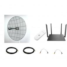 Комплект 4G параболик Kroks для офиса Pro Max