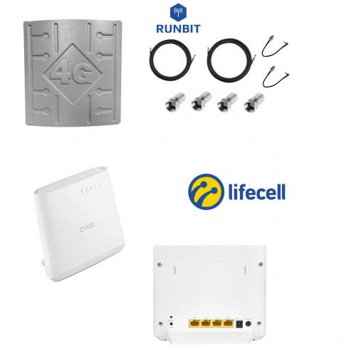 Комплект для безлимитного 4G интернета Lifecell Бизнес