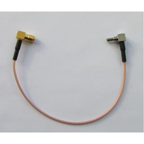 Антенный переходник SMA-female - CRC-9-121L угловой