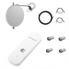 Комплект для 4G/3G интернета  роутер Huawei E3372 + офсетная антенна  MIMO 2x27 dBi