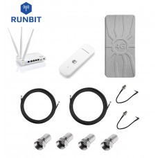 Комплект для интернета 4G/3G роутер Netis MW5230 + модем Huawei E3372 + антенна RunBit Spider