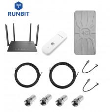 Комплект для интернета 4G/3G роутер D-Link DIR 815 + модем Huawei E3372 + антенна RunBit Spider