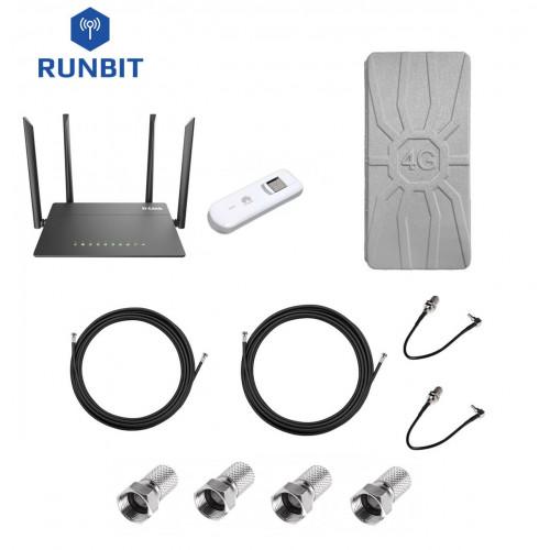 Комплект для интернета 4G/3G роутер D-Link DIR 815 + модем Huawei E3276 + антенна RunBit Spider